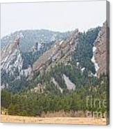 Three Flatirons Boulder Colorado Canvas Print
