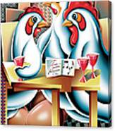 Three French Hens After Picasso Canvas Print
