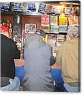 Three Guys In A Bar Canvas Print