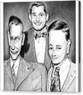 Three Guys Canvas Print