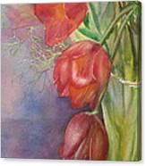 Three In A Vase Canvas Print