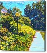 Three Lamp Posts Canvas Print
