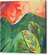 Three Leaf Canvas Print
