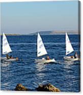 Three Little Boats Canvas Print