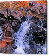 Three Little Forks In The Waterfall Canvas Print