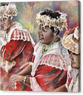 Three Mamas From Tahiti Canvas Print