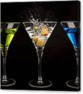 Three Martinis Canvas Print