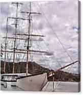 Three Mast Sail Boat Canvas Print