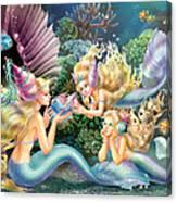 Three Mermaids Canvas Print