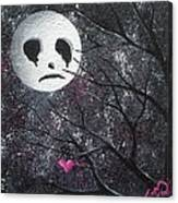 Three Moons Series - Man In The Moon Canvas Print
