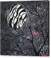 Three Moons Series - Zebra Moon Canvas Print