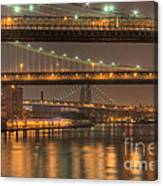 Three New York Bridges Canvas Print