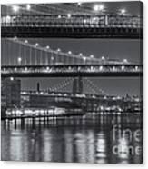 Three New York Bridges II Canvas Print