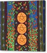 Three Of Pentacles Canvas Print