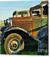 Three Old Fords Canvas Print