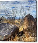 Three Rivers Petroglyphs 7 Canvas Print