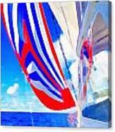 Three Sheets Sailing Canvas Print