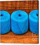 Three Skeins Of Knitting Yarn Canvas Print