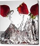 Three Strawberries Freshsplash Canvas Print