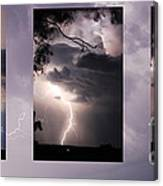Three Strikes Lightning Canvas Print