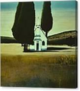 Three Trees And A Church Canvas Print