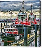 Three Tugs Hdr Canvas Print