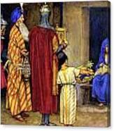 Three Wise Men Bearing Gifts Canvas Print