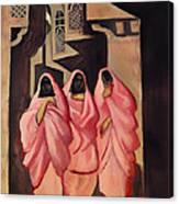 Three Women On The Street Of Baghdad Canvas Print
