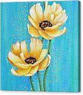 Three Yellow Poppies with Pixie Dust Canvas Print