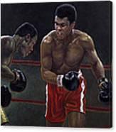 Thrilla In Manilla Canvas Print