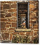 Through Doors And Windows - Abandoned House Canvas Print