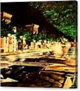 Through Some Place A Rainy Night Canvas Print