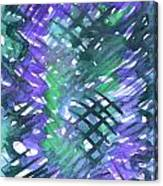 Through The Blue Lattice Canvas Print