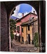 Through The Castle Door Canvas Print