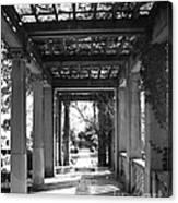 Through The Columns Canvas Print