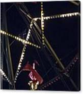 Through The Ferris Wheel Canvas Print