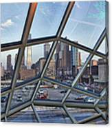 Through The Glass At Philly Canvas Print