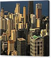 Through The Haze Chicago Shines Canvas Print