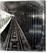 Through The Last Subway Car Window 3 Canvas Print