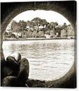 Through The Porthole Canvas Print