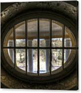 Through The Round Window Canvas Print