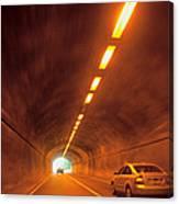Thru The Tunnel Canvas Print