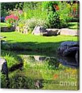 Thula Garden's Water Reflections Canvas Print