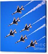 Thunderbirds Jet Team Flying Fast Canvas Print