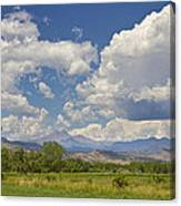 Thunderstorm Clouds Boiling Over The Colorado Rocky Mountains Canvas Print