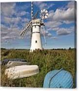 Thurne Dyke Windpump Norfolk Canvas Print