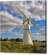 Thurne Dyke Windpump On The Norfolk Broads Canvas Print