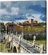Tiber River In Rome Canvas Print