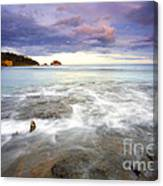 Tide Covered Pavement Canvas Print