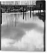 Tide Flats Marina Canvas Print